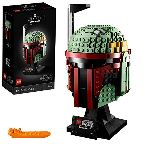 Lego 75277 Star Wars Boba Fett Helm, Schaustück, Bauset zum Sammeln für Erwachsene, Geschenksidee für erfahrene Lego Baumeister