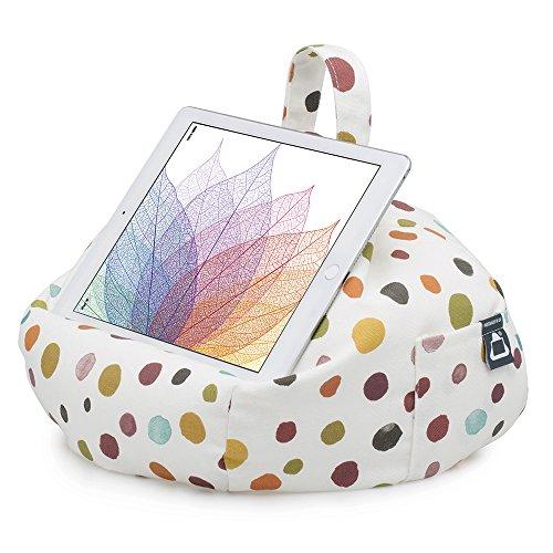 iBeani, Ständer für iPad & Tablet, Sitzsack-Kissen für alle Geräte und jeden Winkel auf jeder Oberfläche Mehrfarbig Polka Dot Whitby