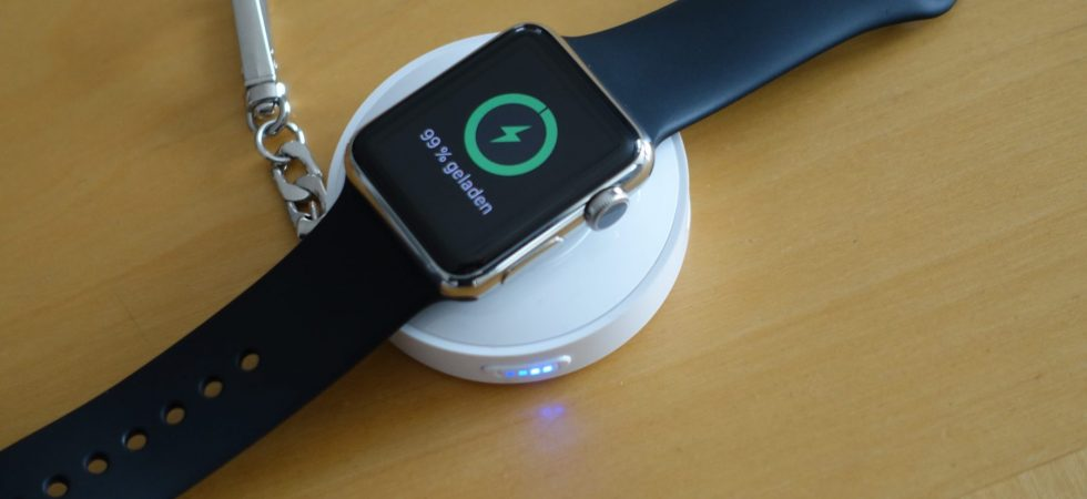 Review: Apple Watch Powerbank mit integriertem Wireless Charging