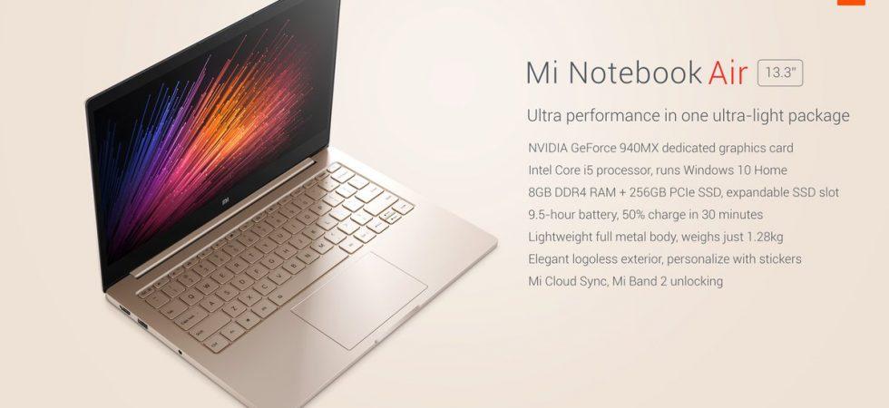 Xiaomi Air 13 kaufen: Windows-Notebook mit Core i5-CPU für 706 Euro