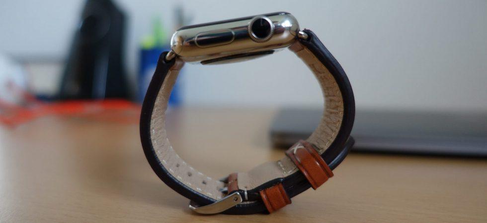 Review: Apple Watch Echtleder-Armband aus Bayern