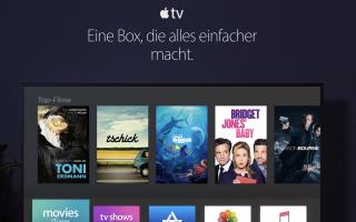 Bilder: Schicke neue AppleTV und Home Website online