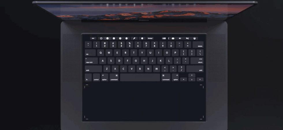 Konzept: MacBook ohne physische Tastatur