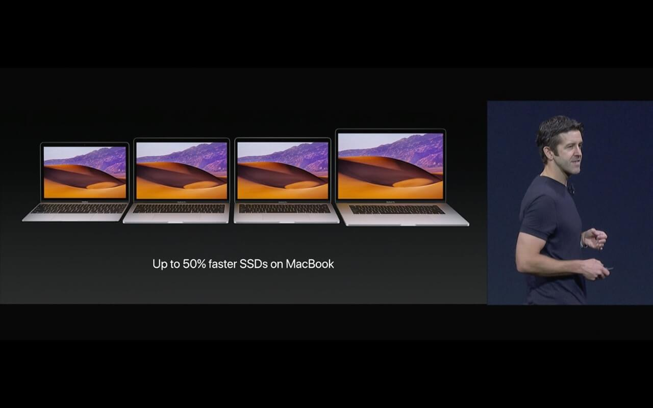 WWDC - MacBooks mit 50% schnellerer SSD - Screenshot - WakeUp Media