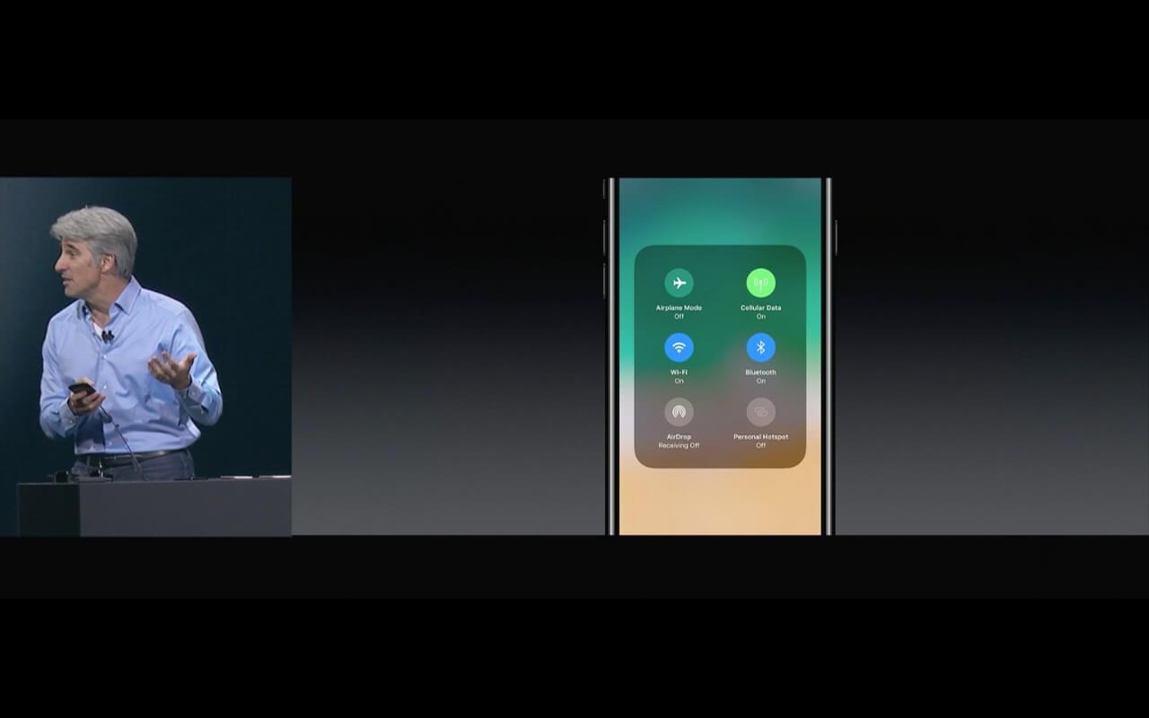 WWDC - WLAN im iOS 11 Kontrollzentrum - Screenshot - WakeUp Media