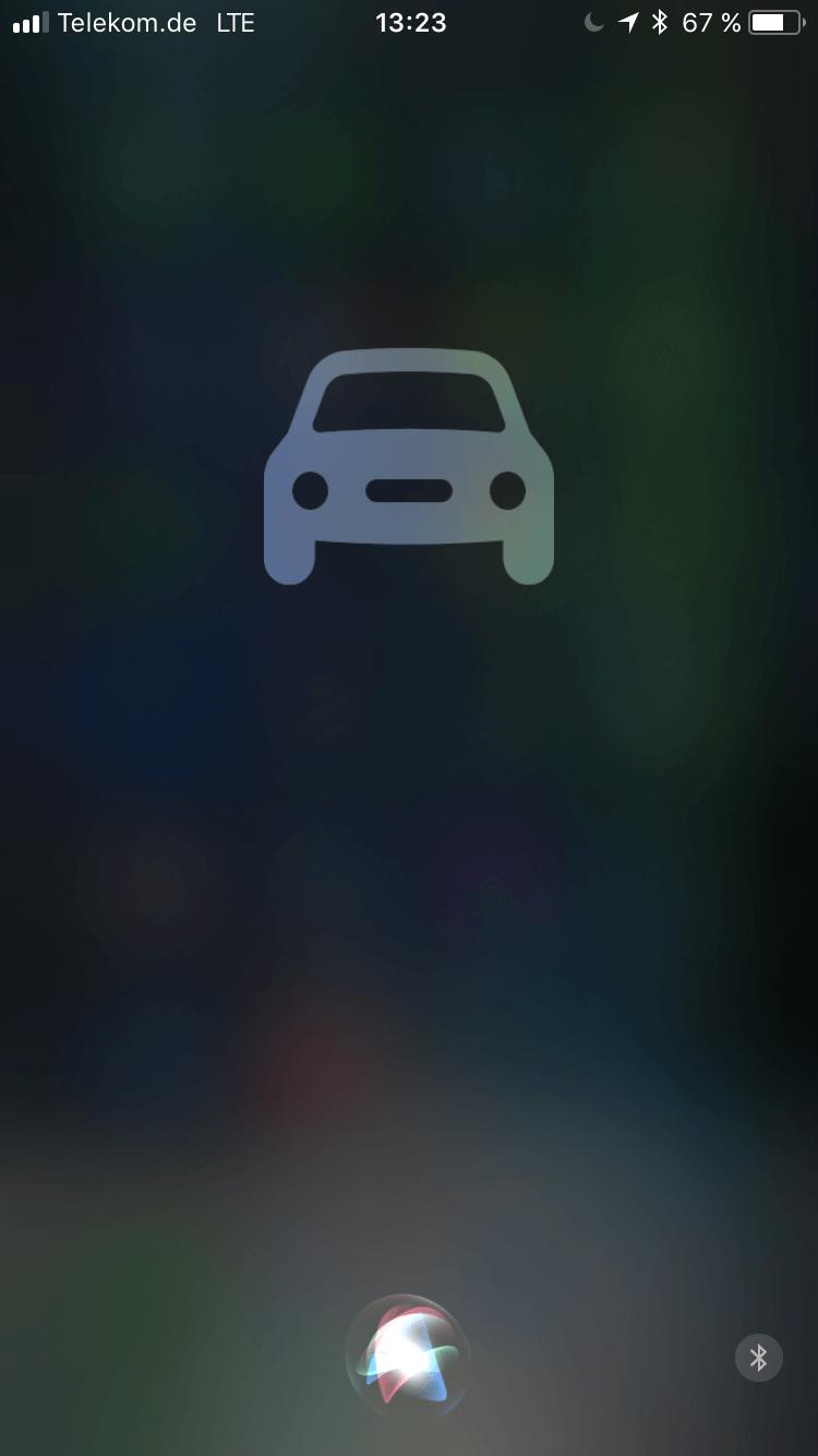 """iOS 11 mit Siri im """"Nicht stören beim Fahren""""-Modus - Screenshot - WakeUp Media"""