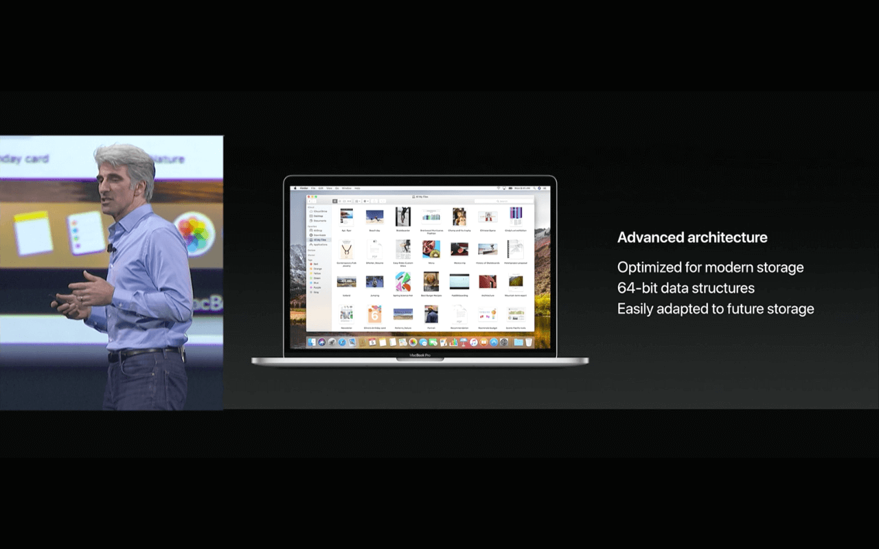 WWDC 2017 Keynote - macOS High Sierra APFS - Screenshot - WakeUp Media