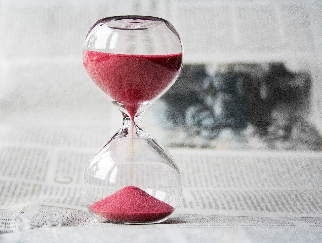 Sanduhr: Verzögerung, warten