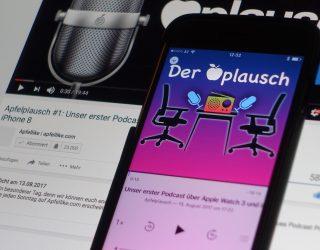 Apfelplausch #1: Unser neuer Podcast jetzt auf Youtube und iTunes