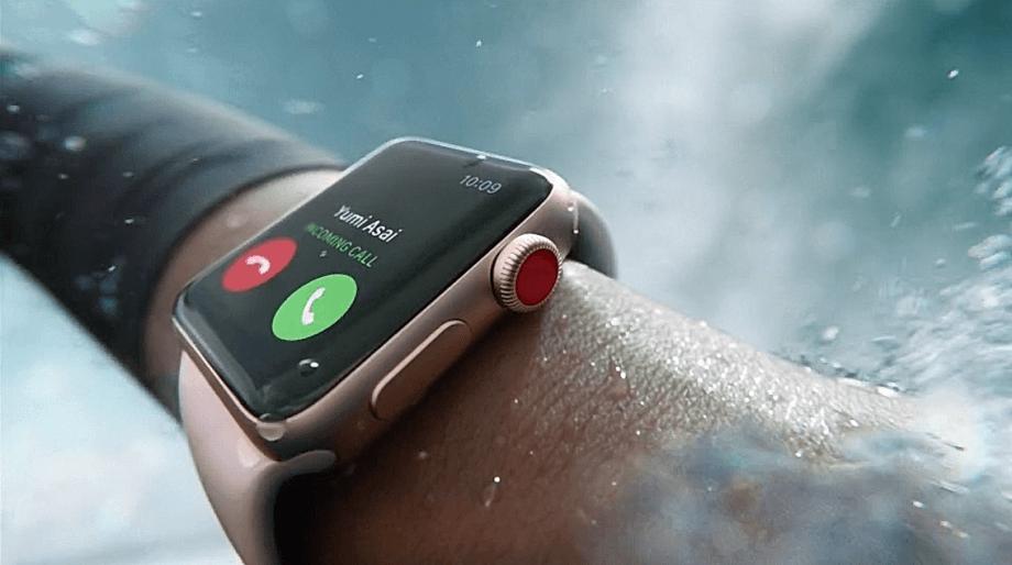 Apple Watch Series 3 ist auch wasserdicht