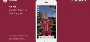 AR-Update: FCB-App bringt Bayern Spieler zu euch nach Hause