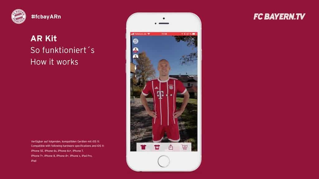 Robben im Wohnzimmer: FC Bayern München stellt AR-App vor