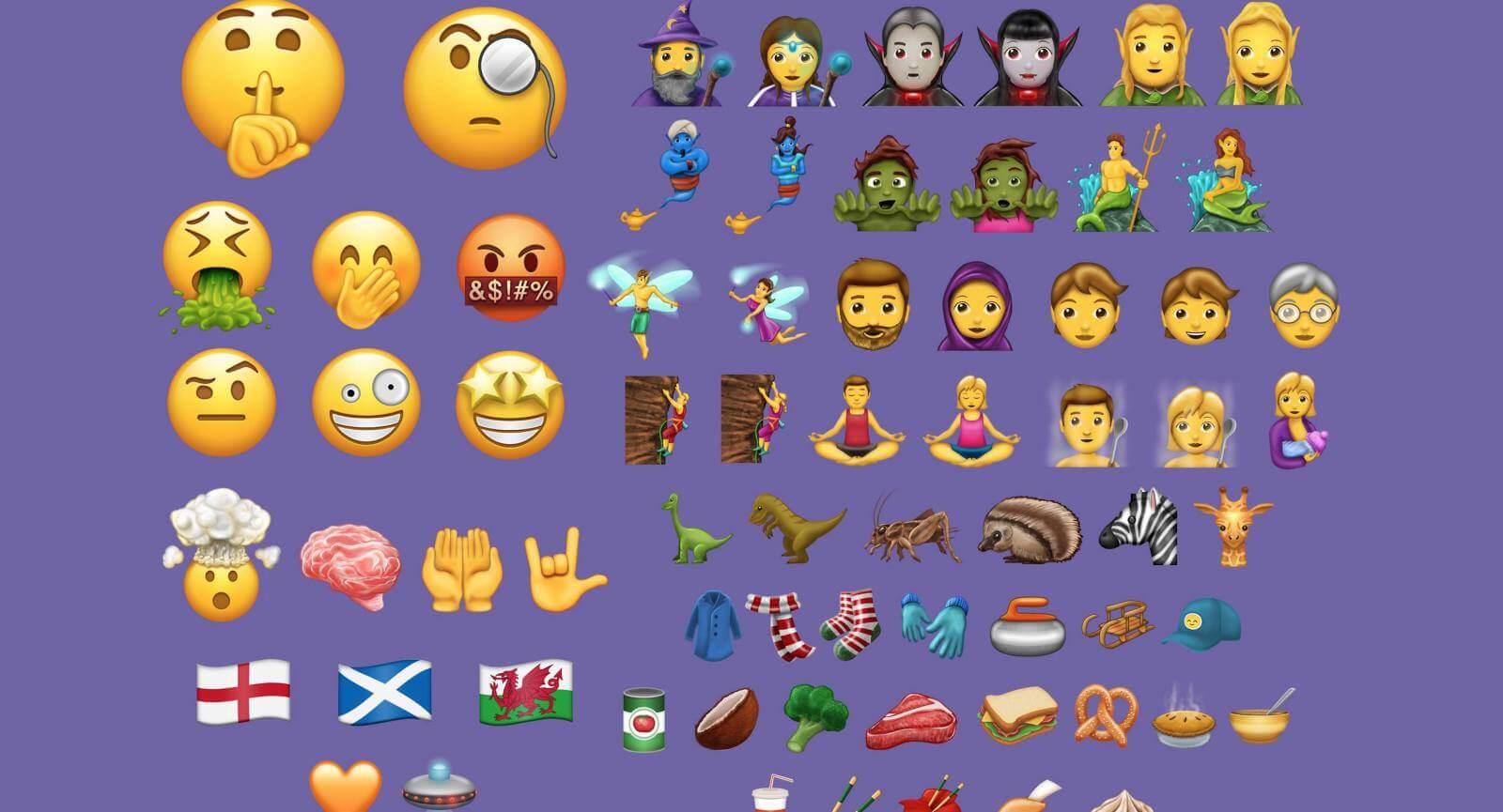 iOS 11.1 Emojis (verschiedenste Emojis)