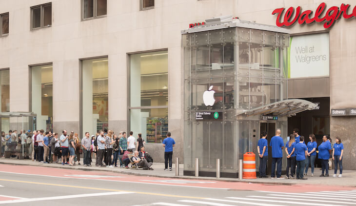Gefälschter Apple Store in New York