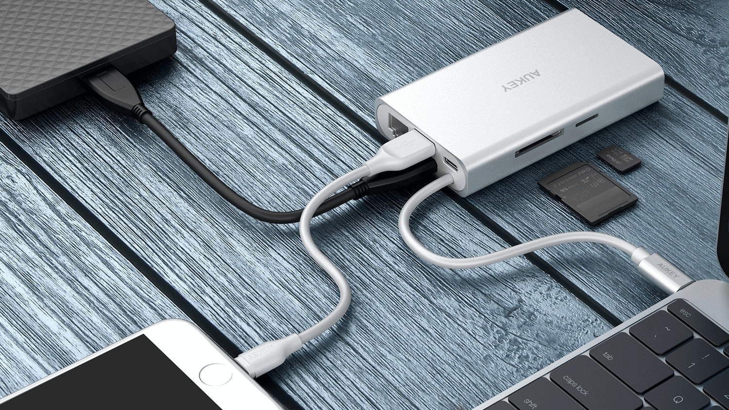 Aukey USB-C Multiport Adapter