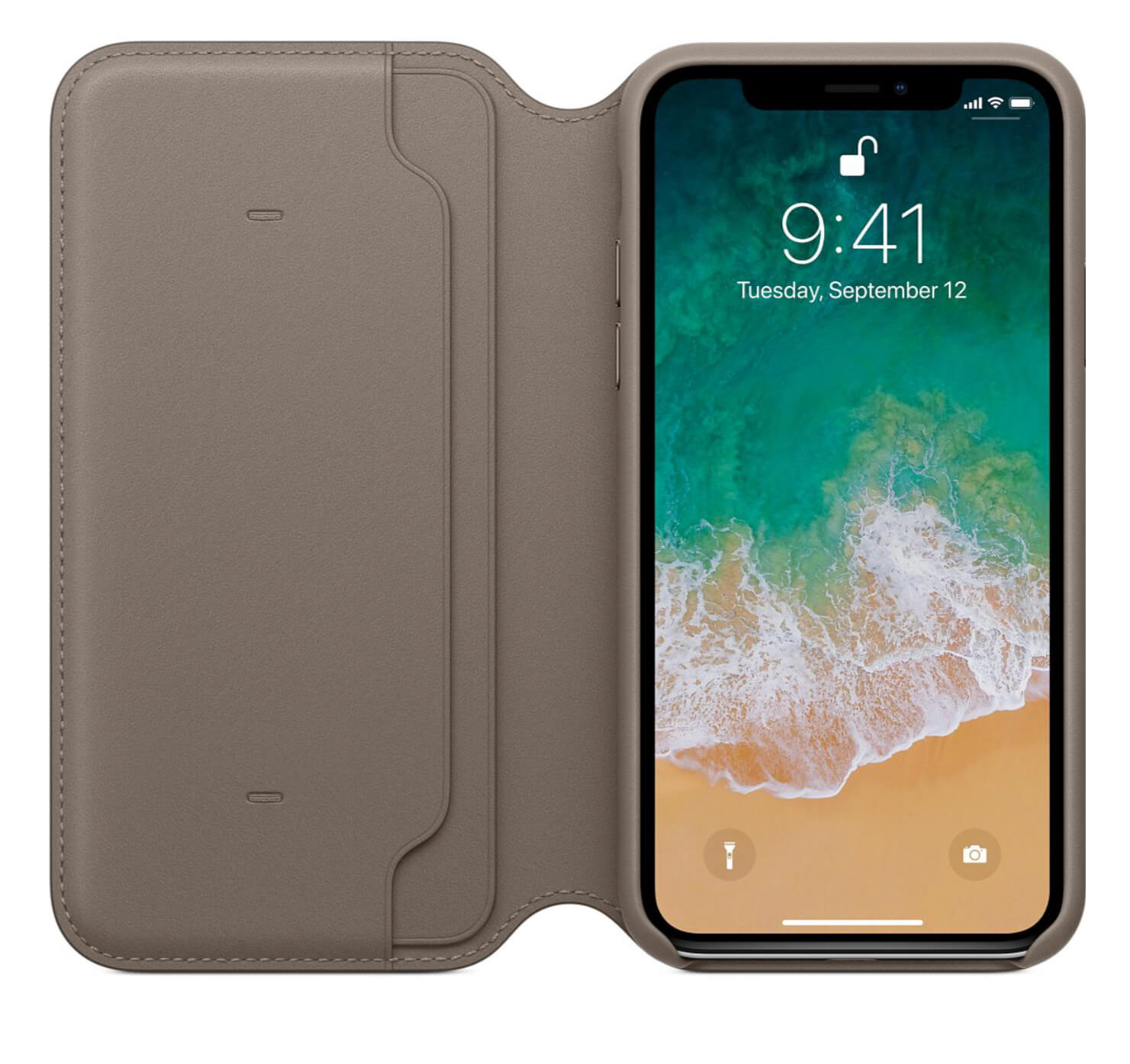 Apple Leder-Folio Case für iPhone X- Apple