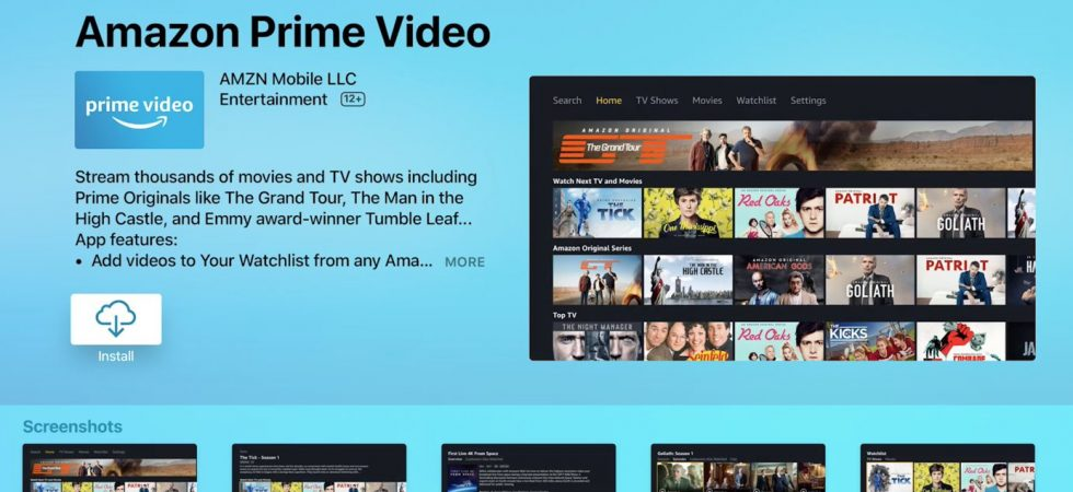 Endlich: Amazon Prime Video für Apple TV ist da