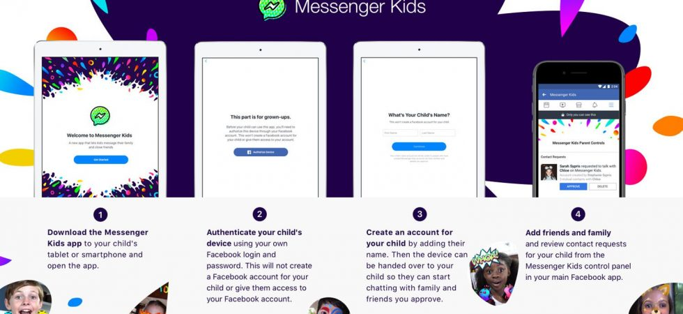 Interessant: Facebook Messenger für Kinder kommt