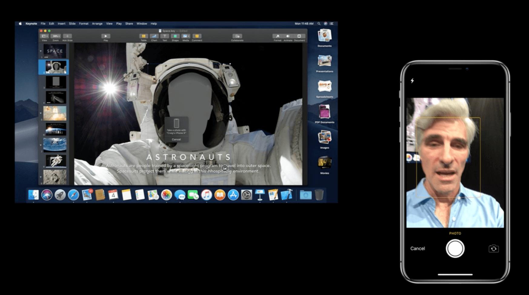 macOS Mojave Kamera-Handoff - Apple