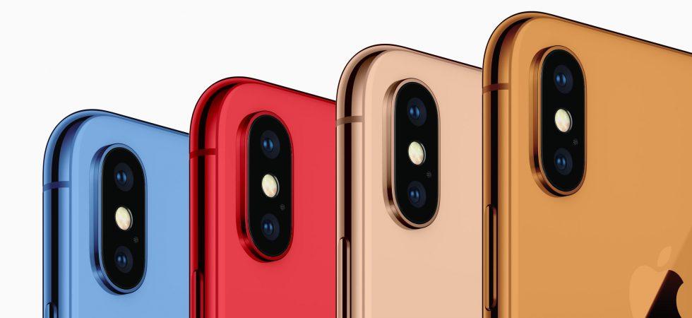 Was wollt ihr? iPhone 2018 könnte in Gold, Grau, Weiß, Blau, Rot und Orange kommen