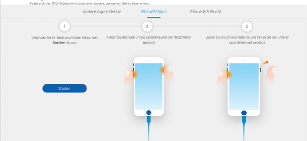 iPhone ohne Datenverlust wiederherstellen mit dr.fone