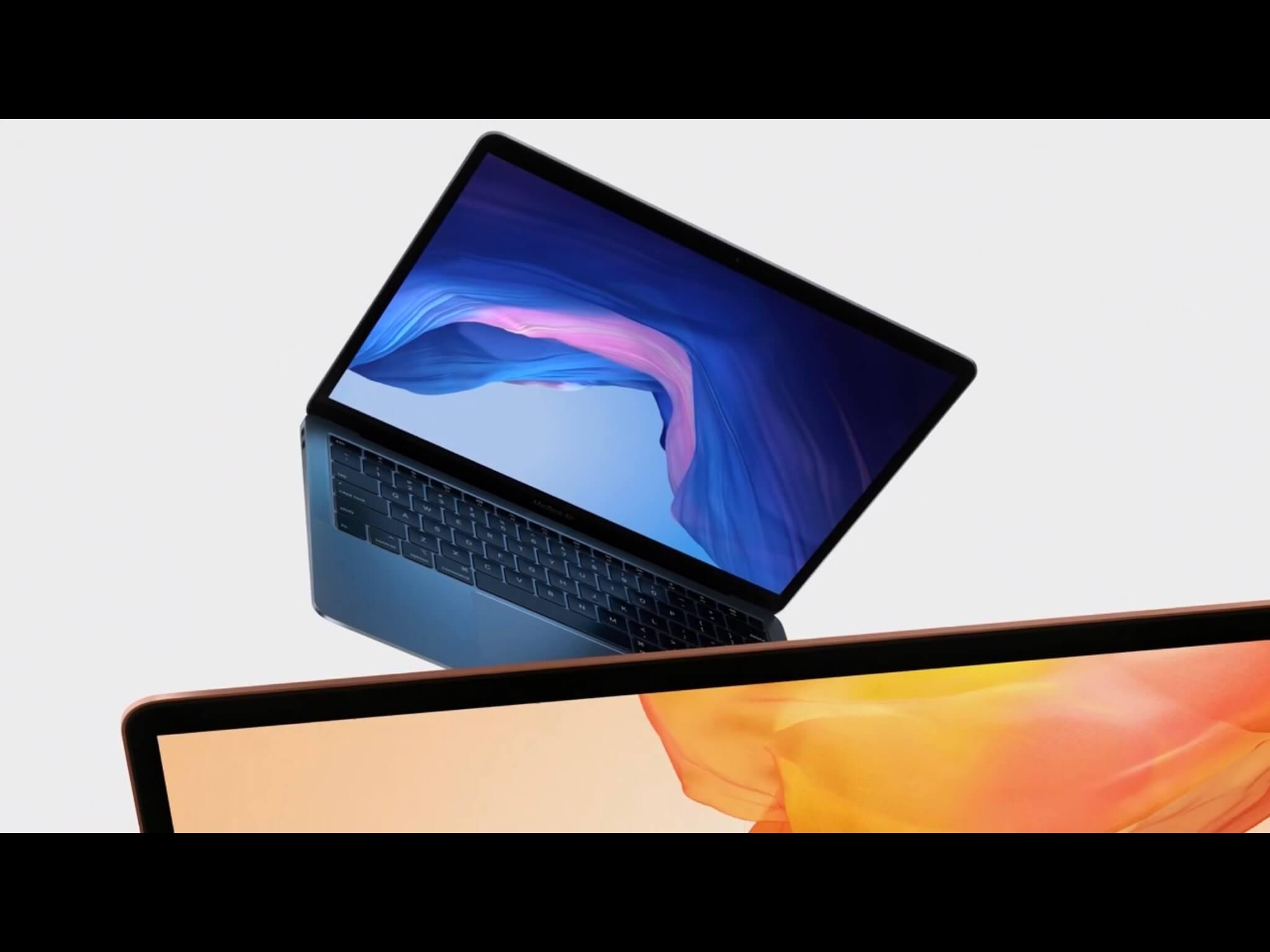 MacBook Air 2018 in Grau und Rot