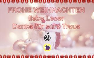 Frohe Weihnachten, liebe Apfellike Leser – Danke füre eure Treue!