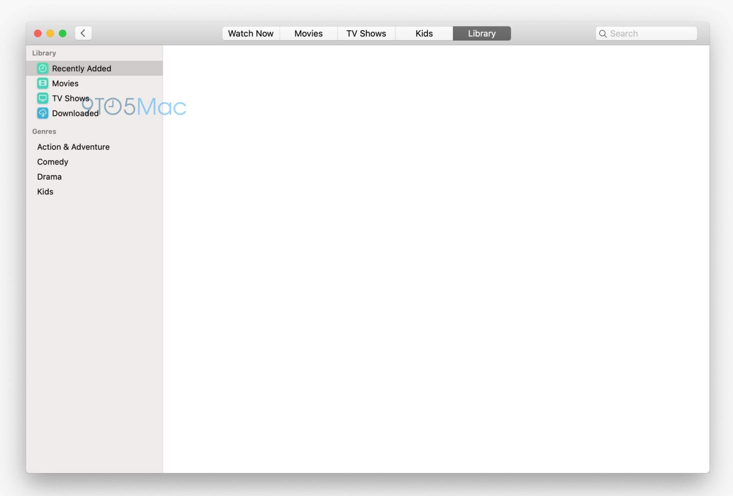 macOS 10.15 TV-App - Screenshot - 9to5Mac