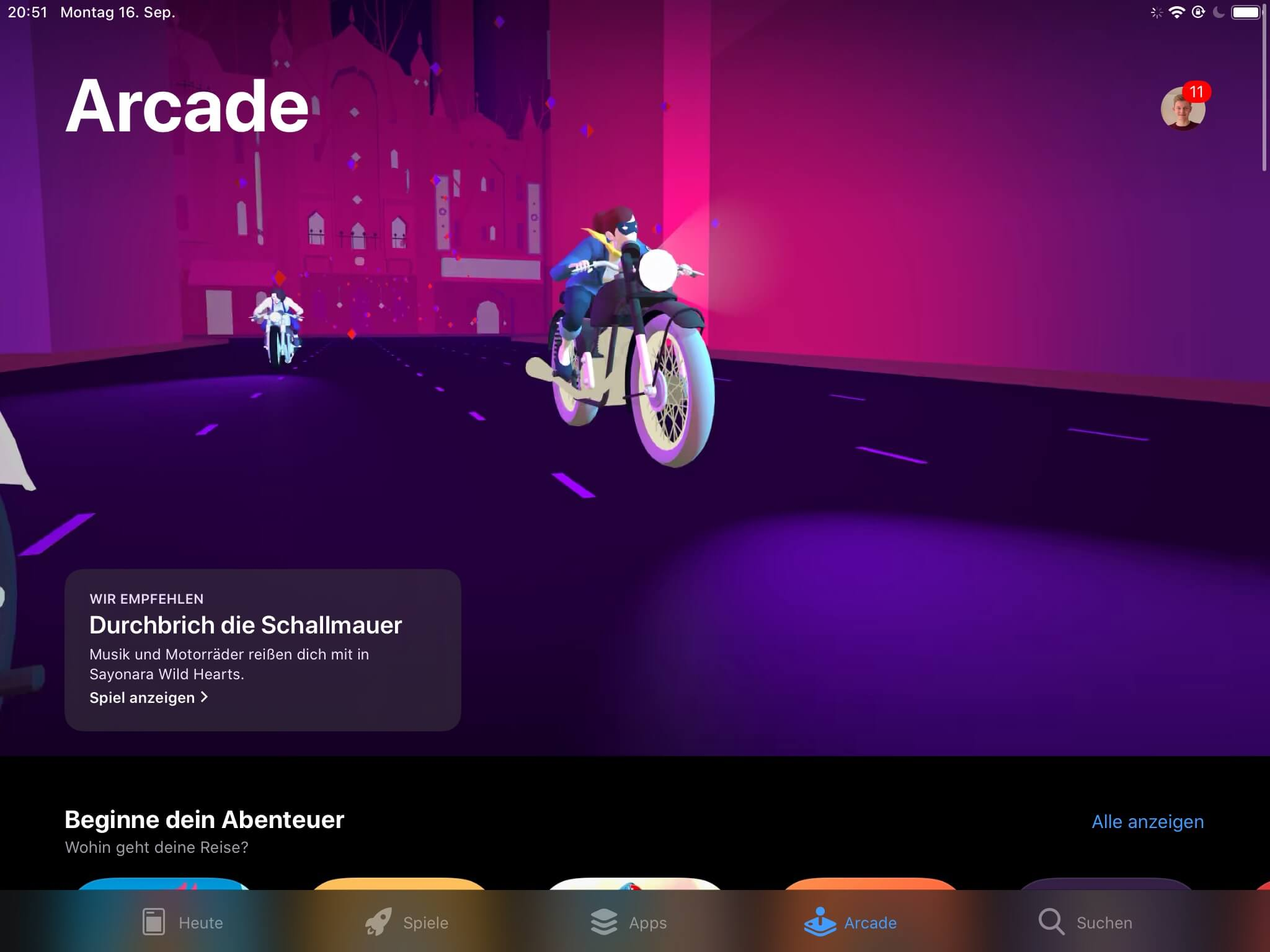 Apple Arcade unter iOS 13 - Screenshot