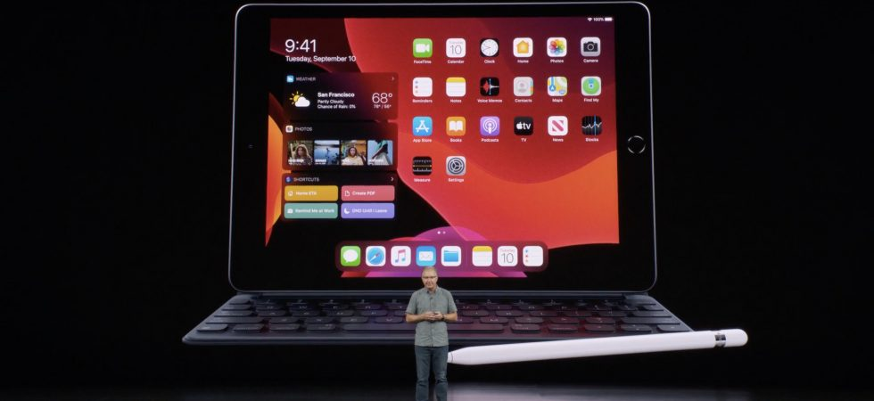 Apple bringt ein 10,2 Zoll-iPad mit Retina-Display und iPadOS 13