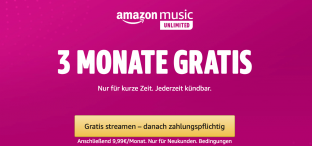 Angebot: Amazon Music Unlimited 3 Monate gratis