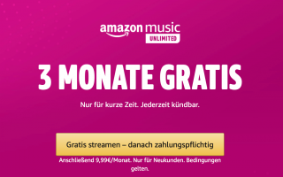 Angebot: Amazon Music Unlimited 3 Monate gratis