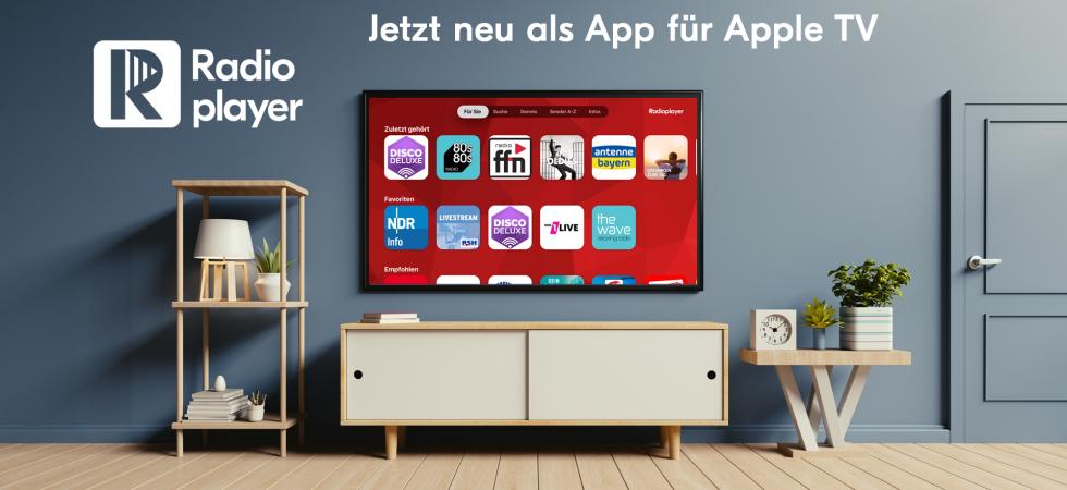 Podcasts und Livestreams: Radioplayer spielt jetzt auch auf dem Apple TV