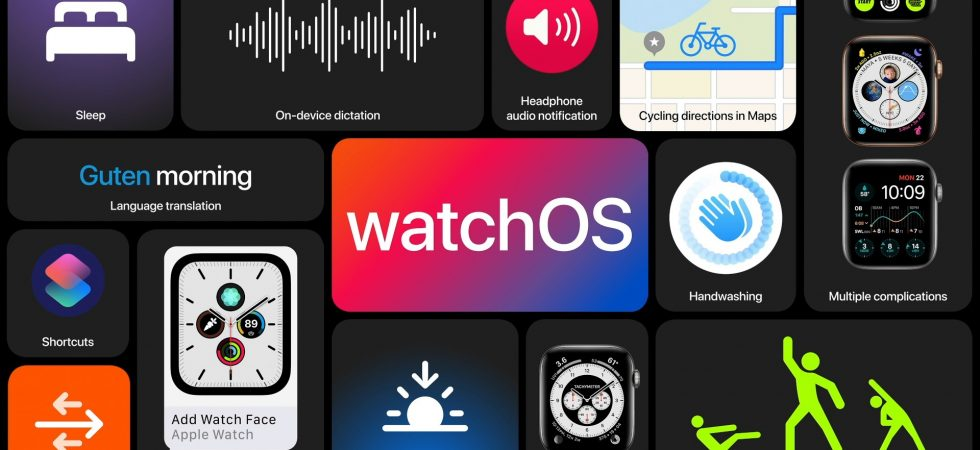 watchOS 7: Sleep-Tracking, geteilte Zifferblätter, alte Watch-Modelle fliegen raus