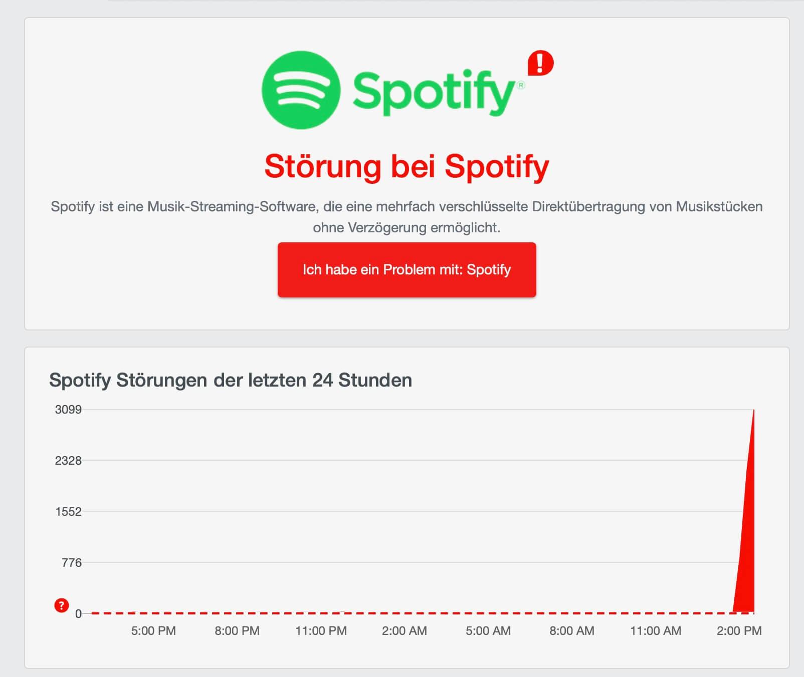 Spotify-Störung - AlleStörungen