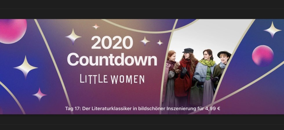 "2020 Countdown: Heute ""Little Women"" für 4,99€"