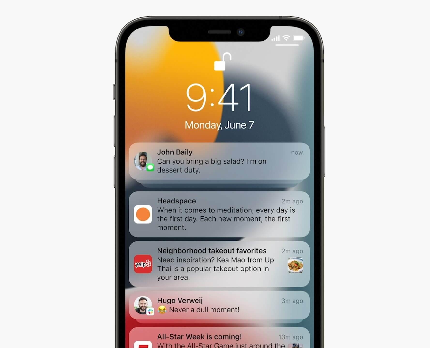 iOS 15 Benachrichtigungen - Apple