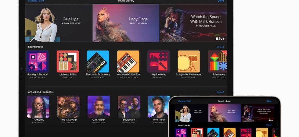 Mit Lady Gaga und Dua Lipa: GarageBand erhält neue kostenlose Soundpakete