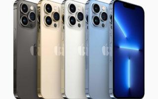 iPhone 13 Pro und iPhone 13 Pro Max: 120 Hz, dreifacher optischer Zoom, ein TB Speicher